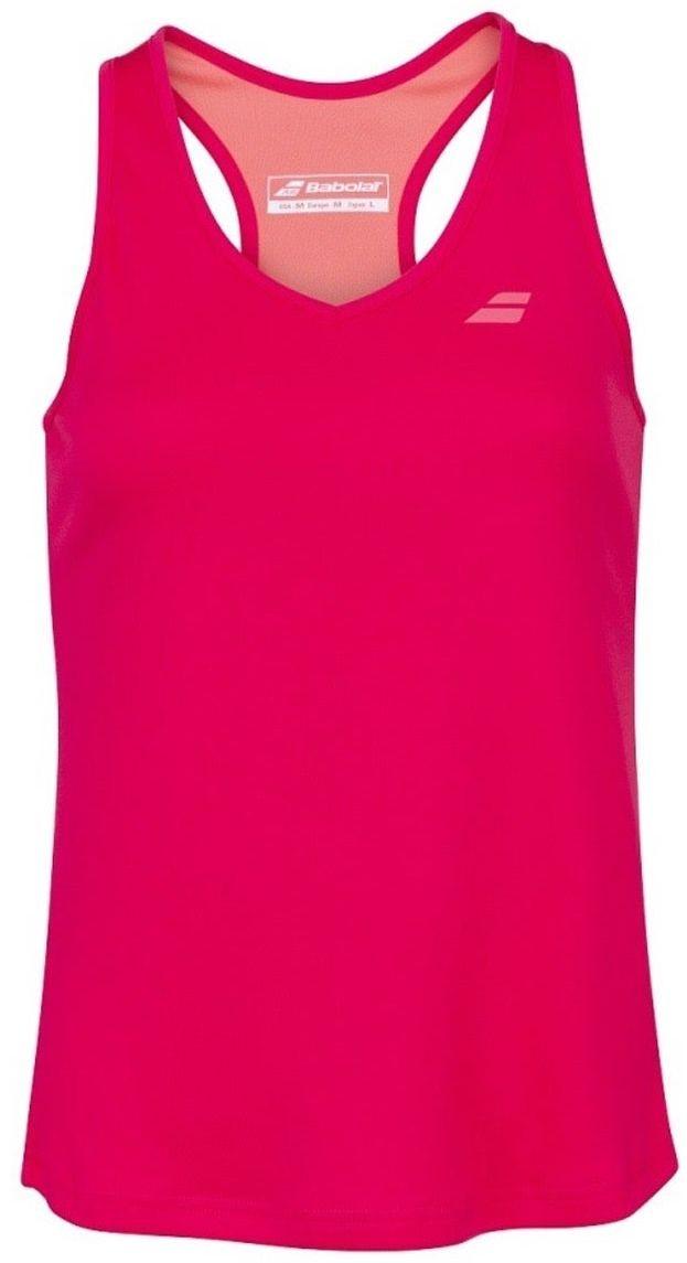 Теннисная майка женская Babolat Play Tank Top Women red rose