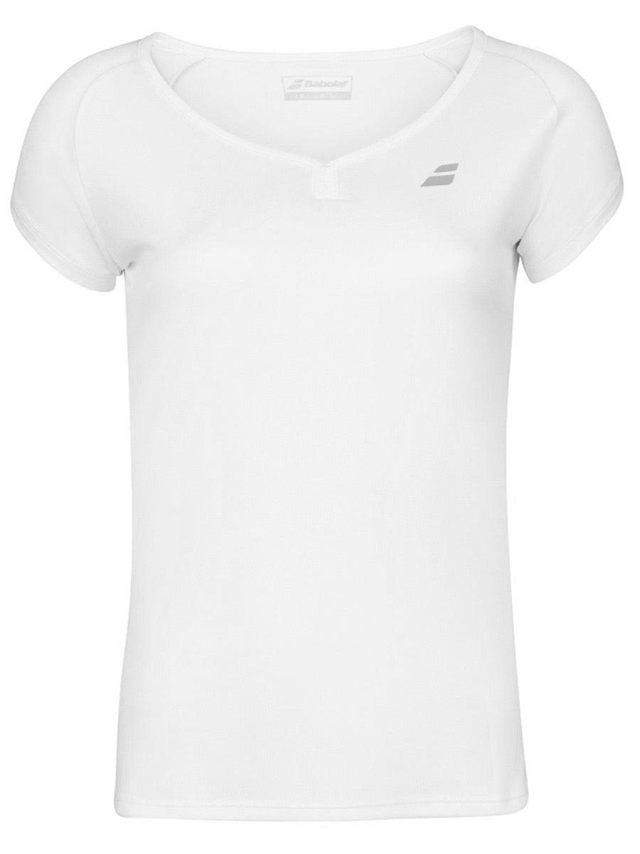 Теннисная футболка женская Babolat Play Cap Sleeve Top Women white