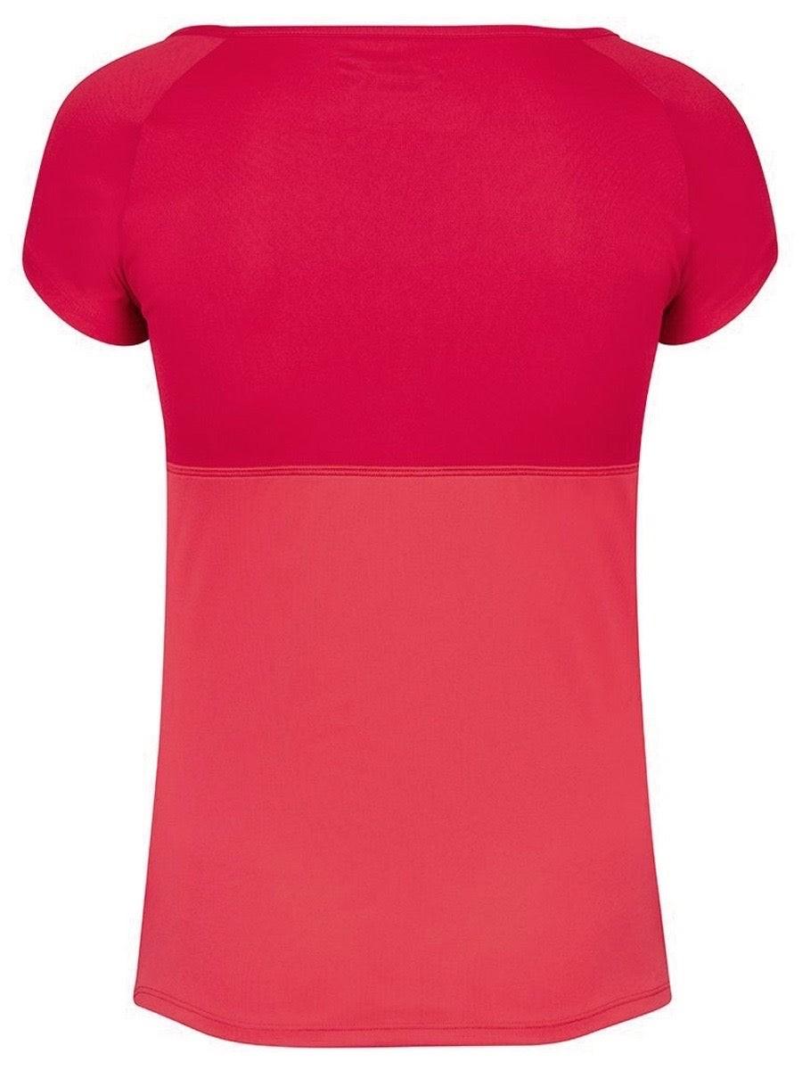 Теннисная футболка женская Babolat Play Cap Sleeve Top Women tomato red