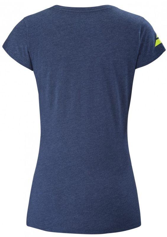 Теннисная футболка женская Babolat Exercise Massange Tee estate blue heather