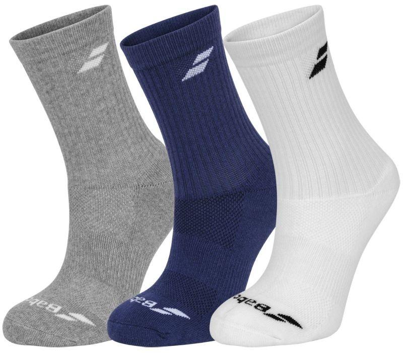 Babolat 3 Pairs Pack Socks white/estate blue/grey