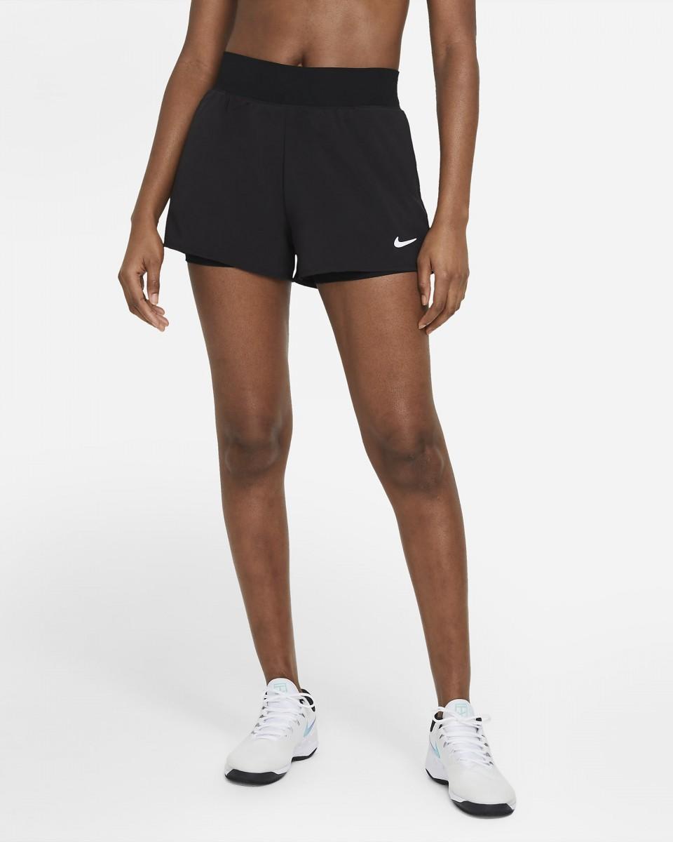 Теннисные шорты женские Nike Court Victory Short black/white