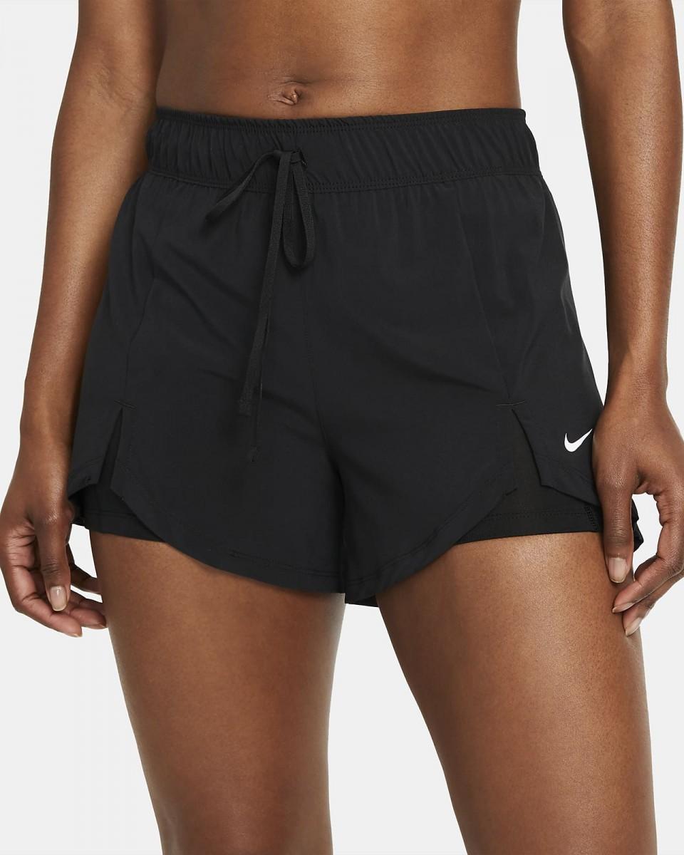 Теннисные шорты женские Nike Flex 2in1 Short black/black