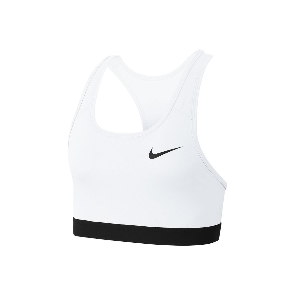 Топ женский Nike Swoosh Bra Non Pad white/white/black