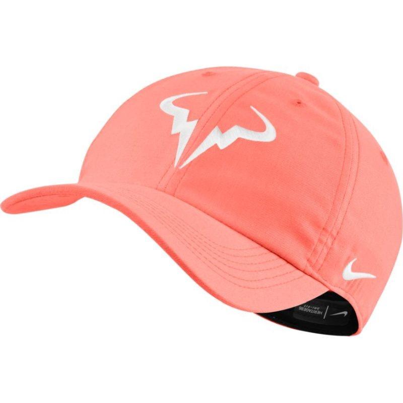 Теннисная кепка Nike Rafa U Aerobill H86 Cap bright mango/white
