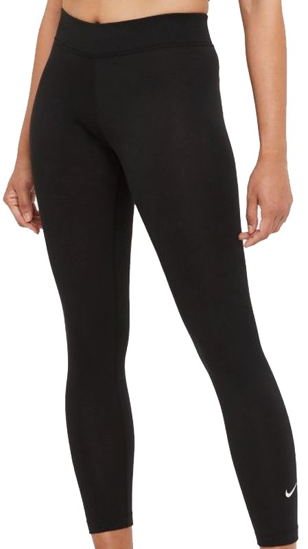 Леггинсы женские Nike SportsWear Essential Women's 7/8 Mid-Rise Leggings black/white