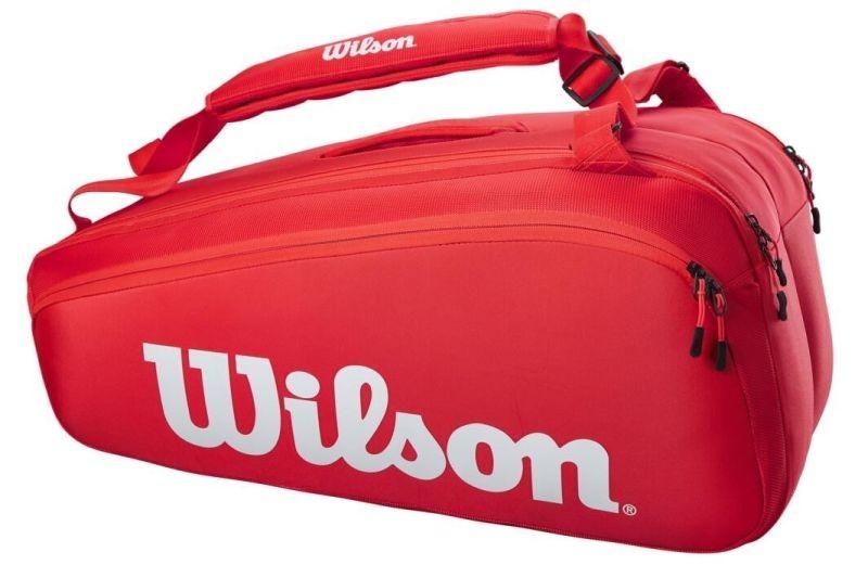 Теннисная сумка Wilson Super Tour 9 Pk red