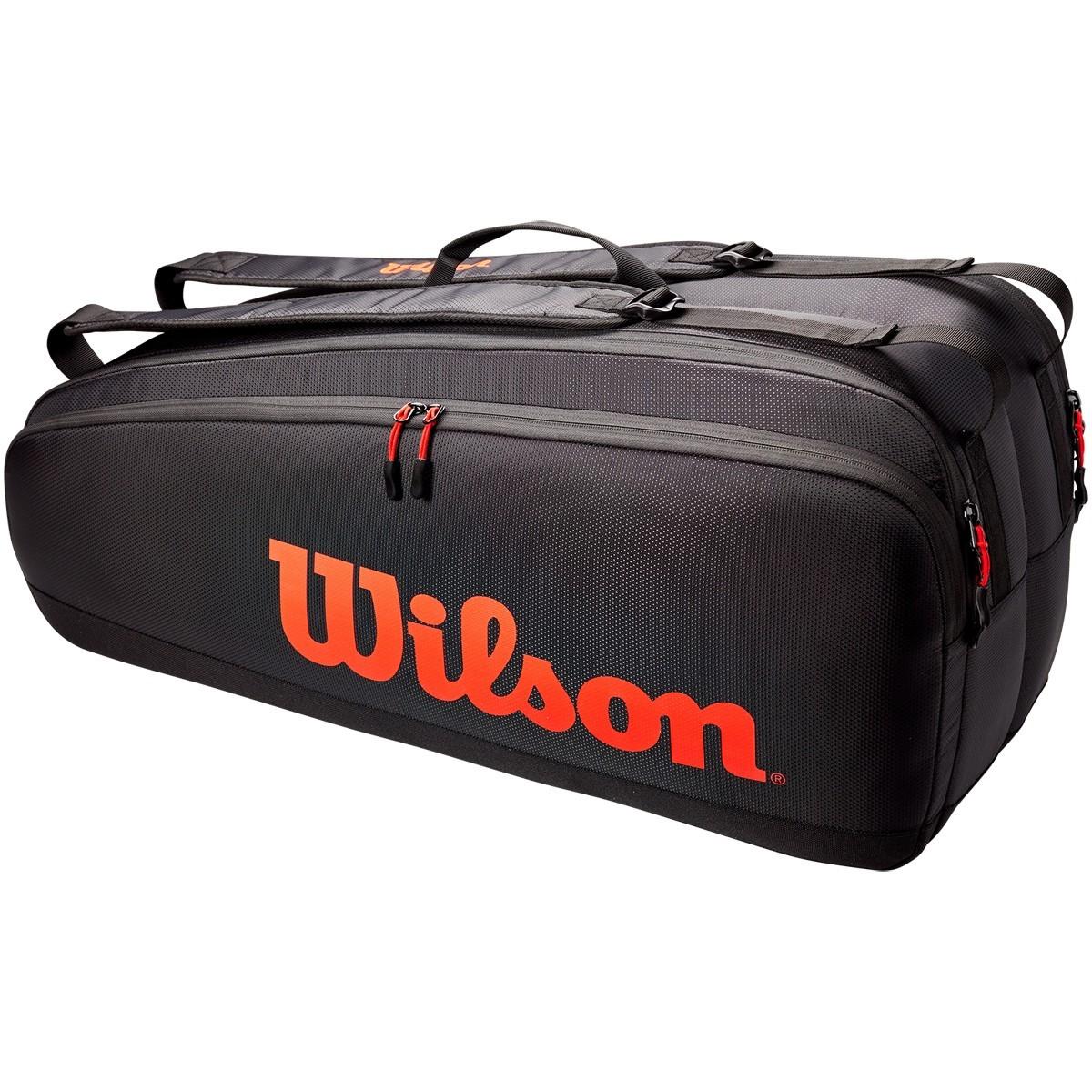 Теннисная сумка Wilson Tour 6 Pk black/red