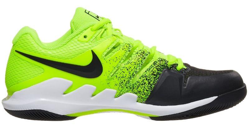Теннисные кроссовки мужские Nike Air Zoom Vapor 10 HC volt/black/white