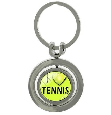 Брелок Tennis Ball Key Chain Rotatable Round Key Ring BH
