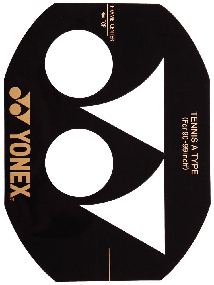 Рисование лого Yonex (белый, черный, красный, серебро)