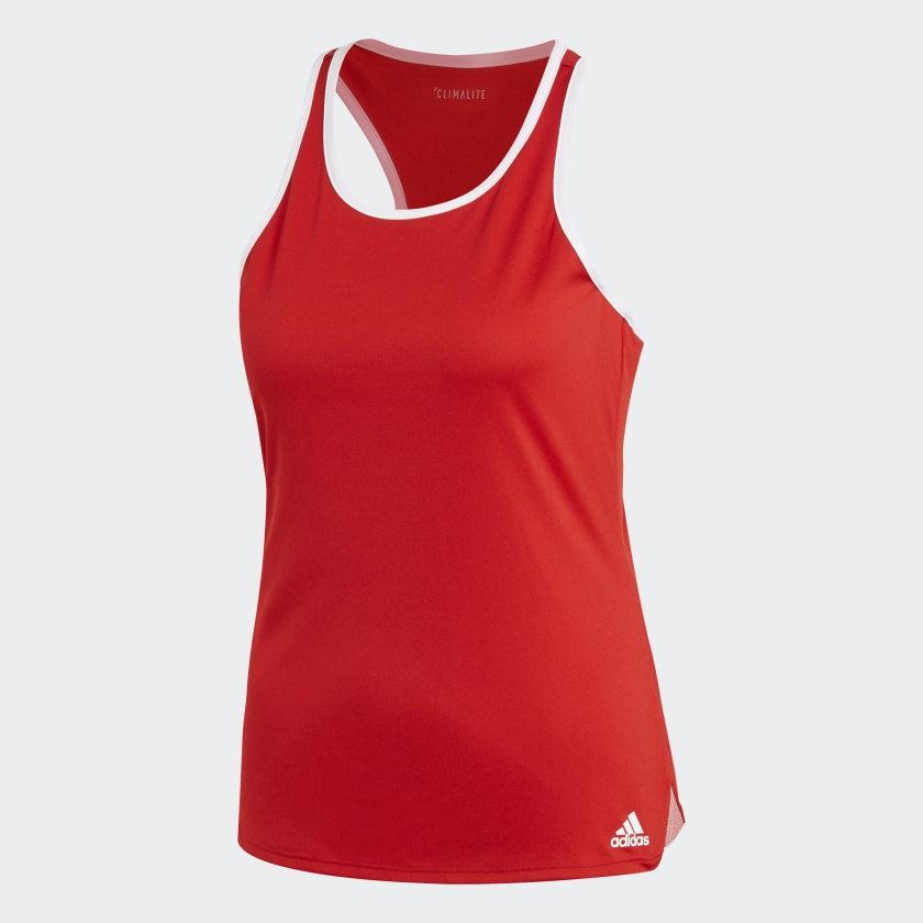 Теннисная майка женская Adidas Club Tank scarlet