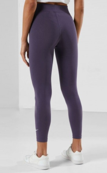 Леггинсы женские Nike SportsWear Essential Women's 7/8 Mid-Rise Leggings purple/white