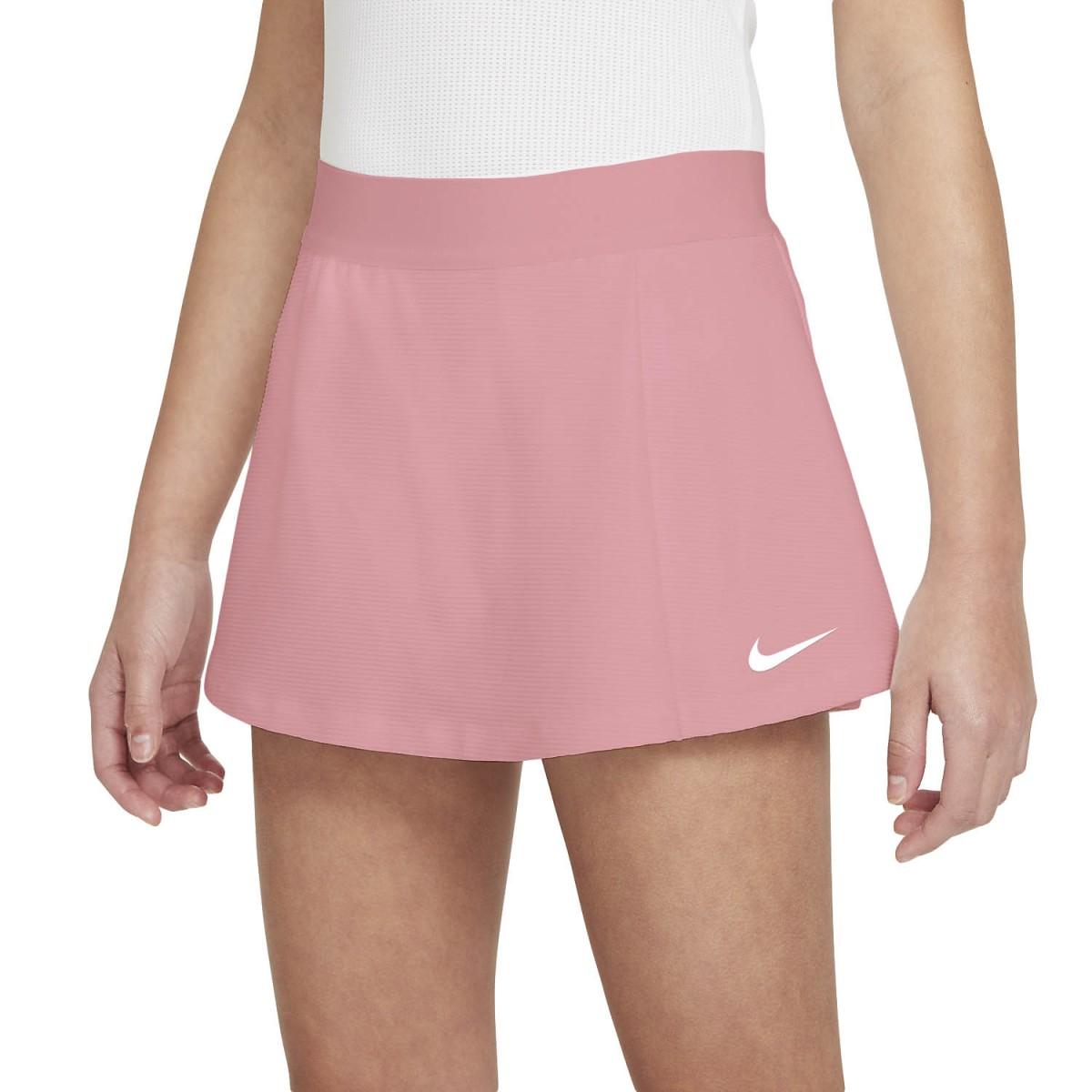 Теннисная юбка детская Nike Court Victory Flouncy Skirt elemental pink/white