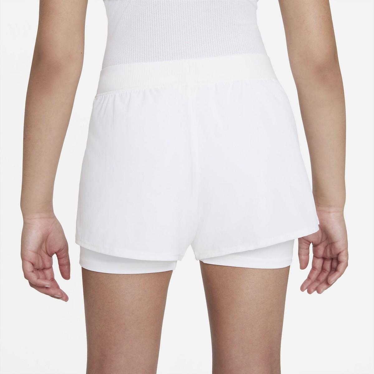 Теннисные шорты детские Nike Court Victory Short white/black