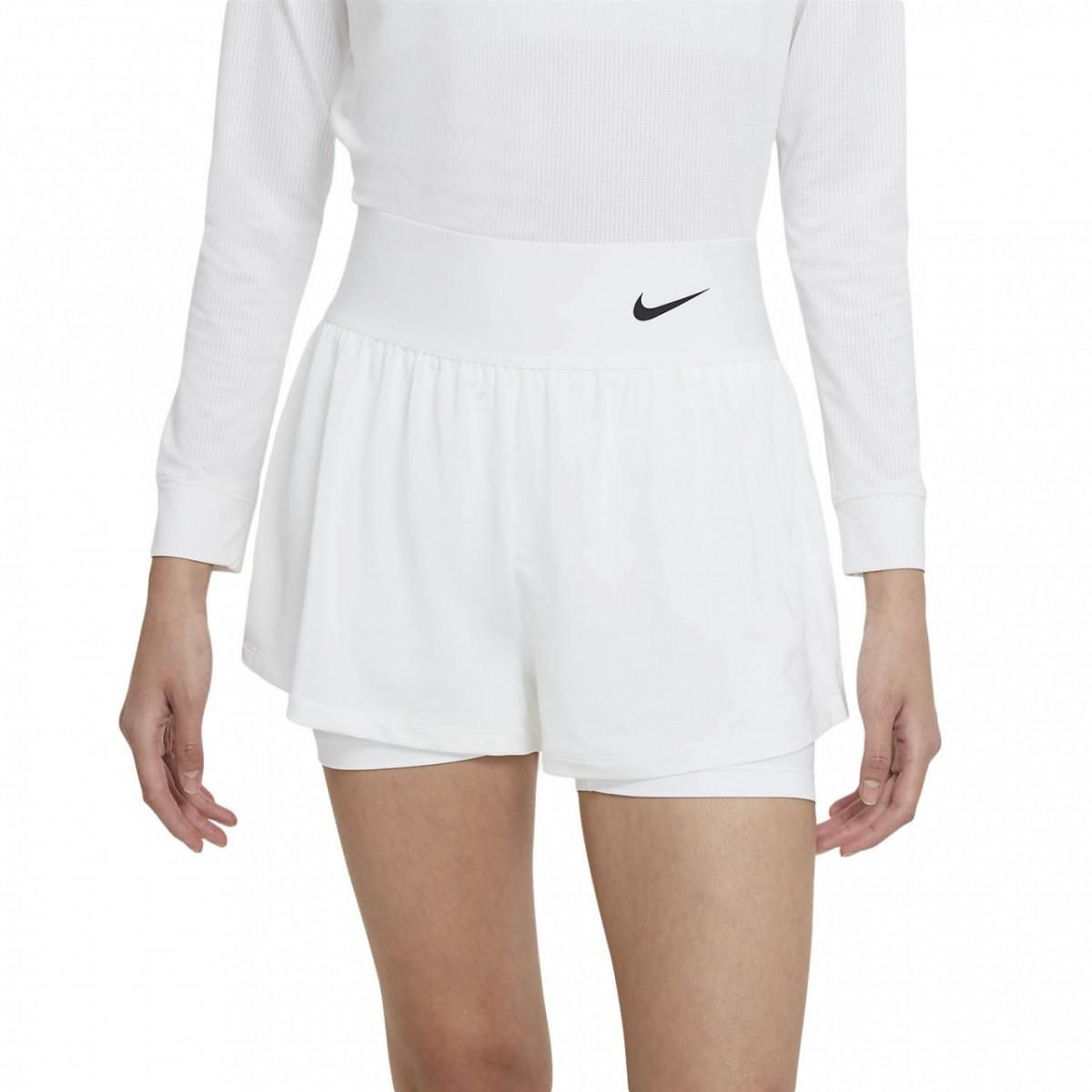 Теннисные шорты женские Nike Court Advantage Short white/black