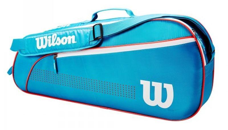 Теннисная сумка Wilson Junior 3 Pk Tennis Bag blue/white/coral