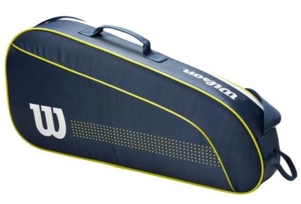 Теннисная сумка Wilson Junior 3 Pk Tennis Bag navy/white/lime green