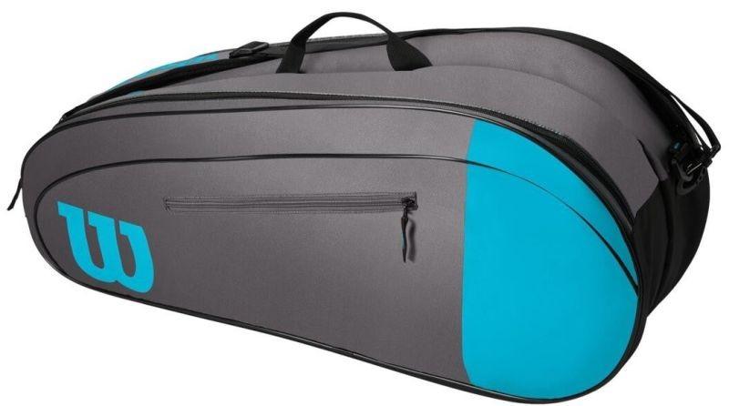 Теннисная сумка Wilson Team 6 Pk Bag blue/grey