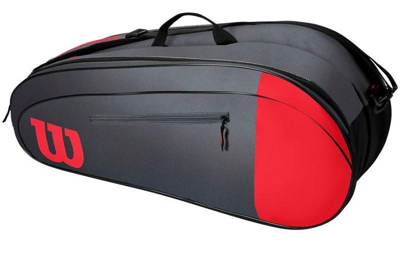 Теннисная сумка Wilson Team 6 Pk Bag red/grey