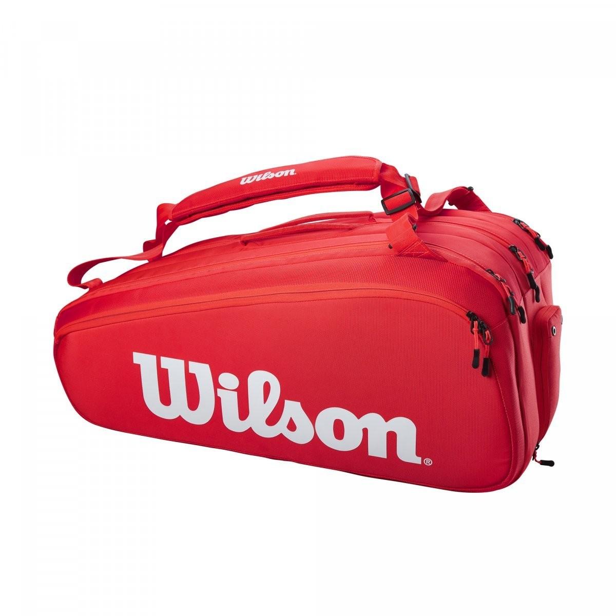 Теннисная сумка Wilson Super Tour 15 Pk Bag red