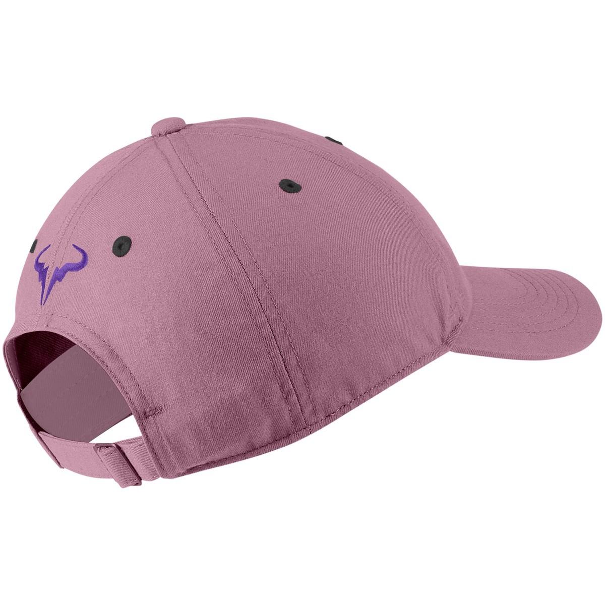 Теннисная кепка Nike Rafa U Aerobill H86 Cap elemental pink/wild berry