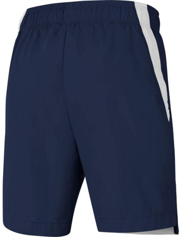 Теннисные шорты детские Nike Boys Woven Short midnight navy/white