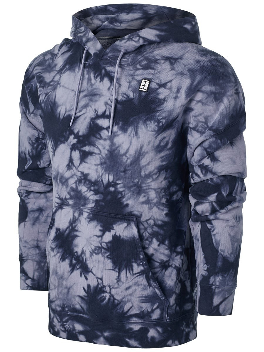 Реглан мужской Nike Court Fleece Hoodie Heritage Dye indigo haze/white