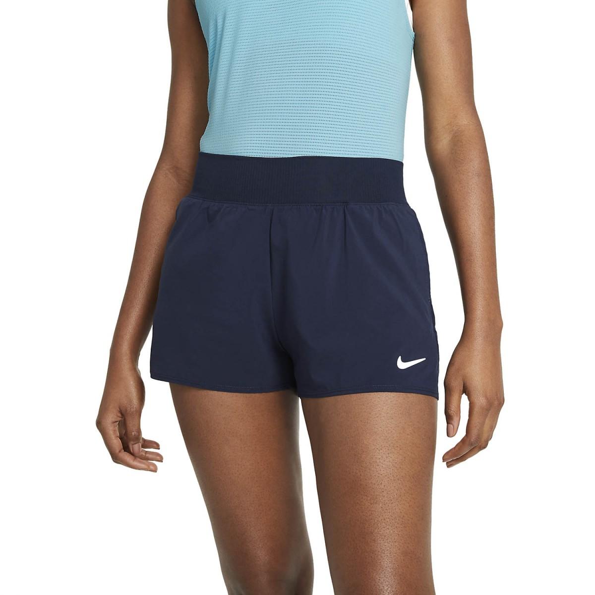 Теннисные шорты женские Nike Court Victory Short obsidian/white