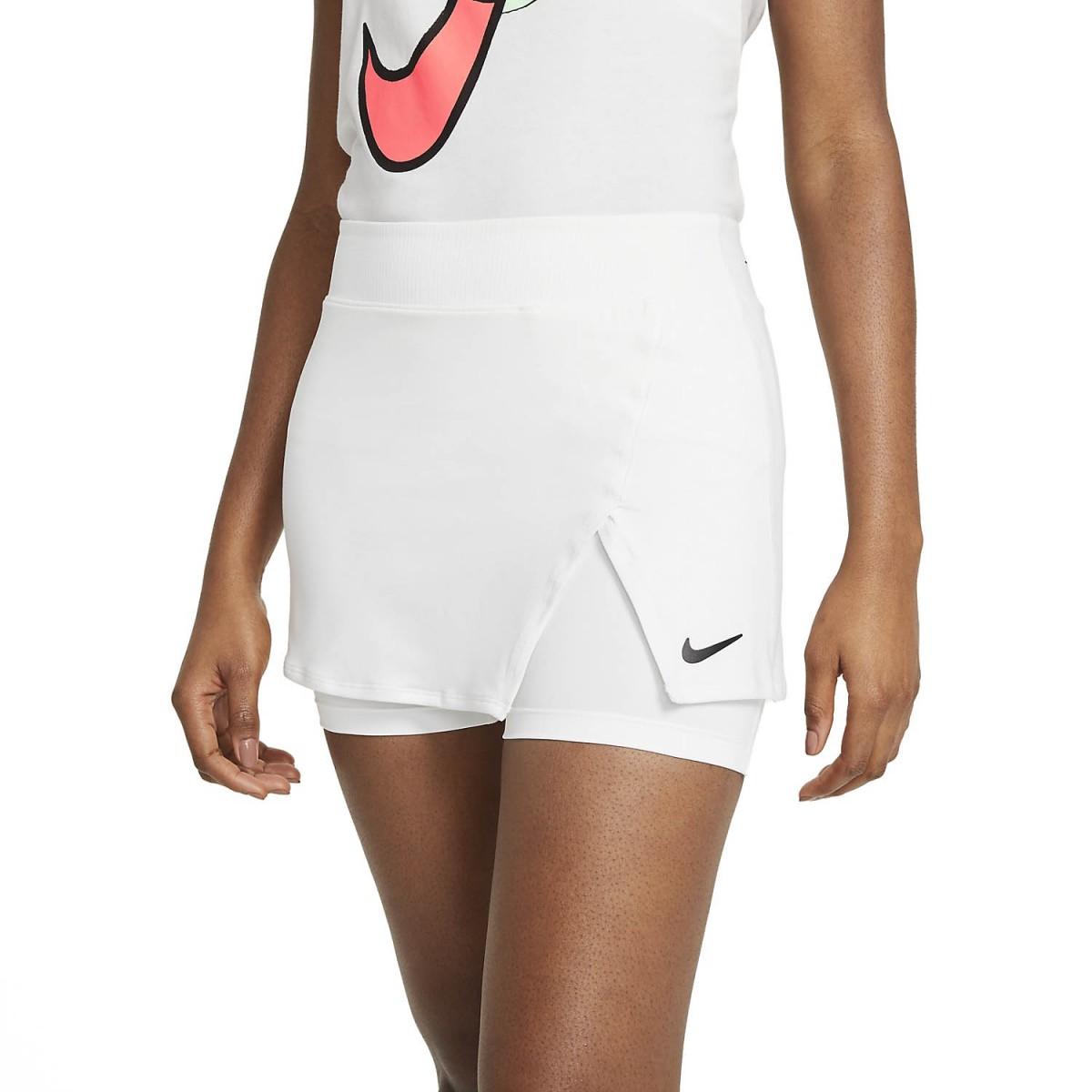 Теннисная юбка женская Nike Court Victory Tennis Skirt white/black