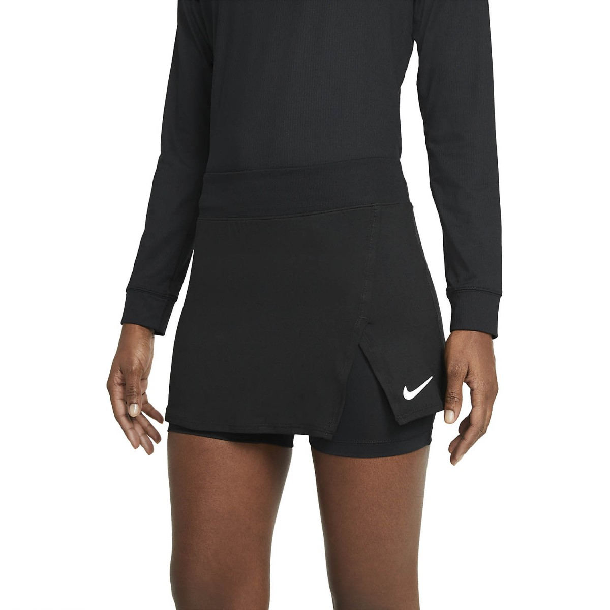 Теннисная юбка женская Nike Court Victory Tennis Skirt black/white