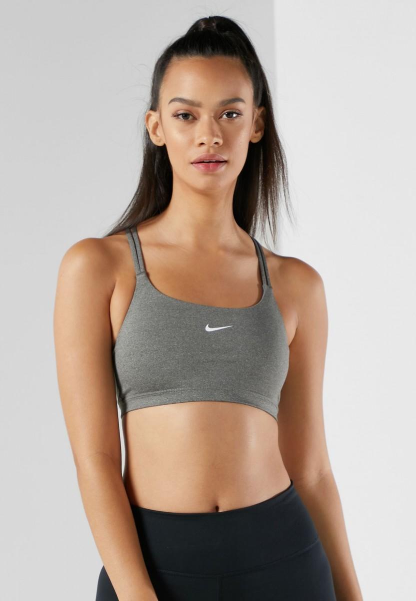 Топ женский Nike INDY NON PAD Bra grey/white
