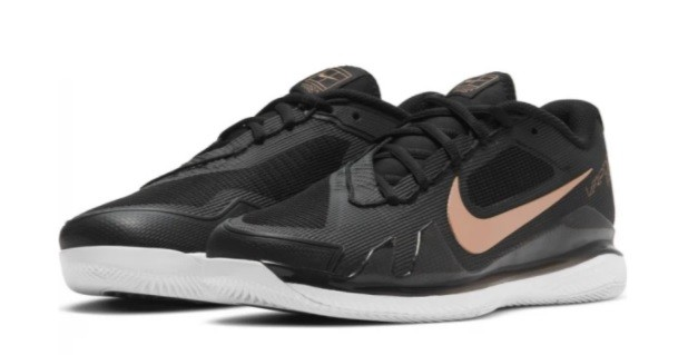 Теннисные кроссовки женские Nike Air Zoom Vapor Pro black/mtlc red bronze/white