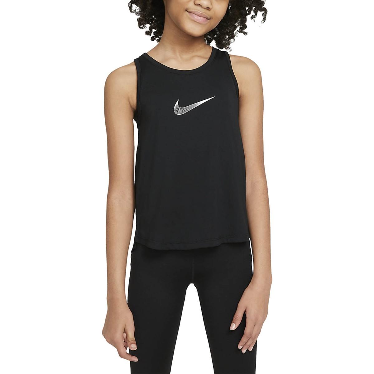 Теннисная майка для девочек Nike Dry Trophy Tank black/white