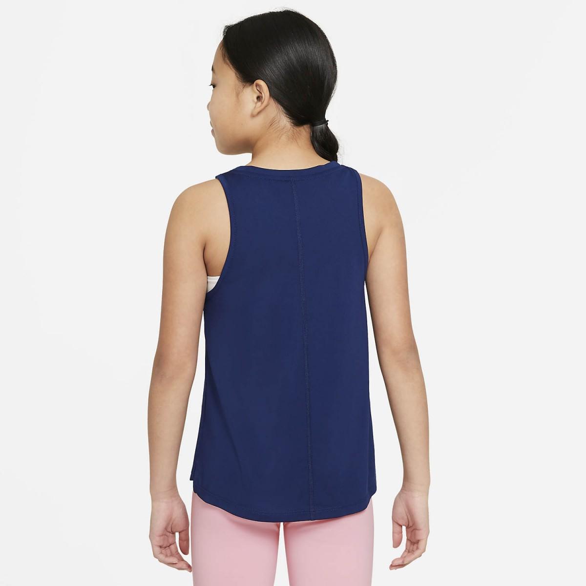 Теннисная майка для девочек Nike Dry Trophy Tank blue void/arctic punch