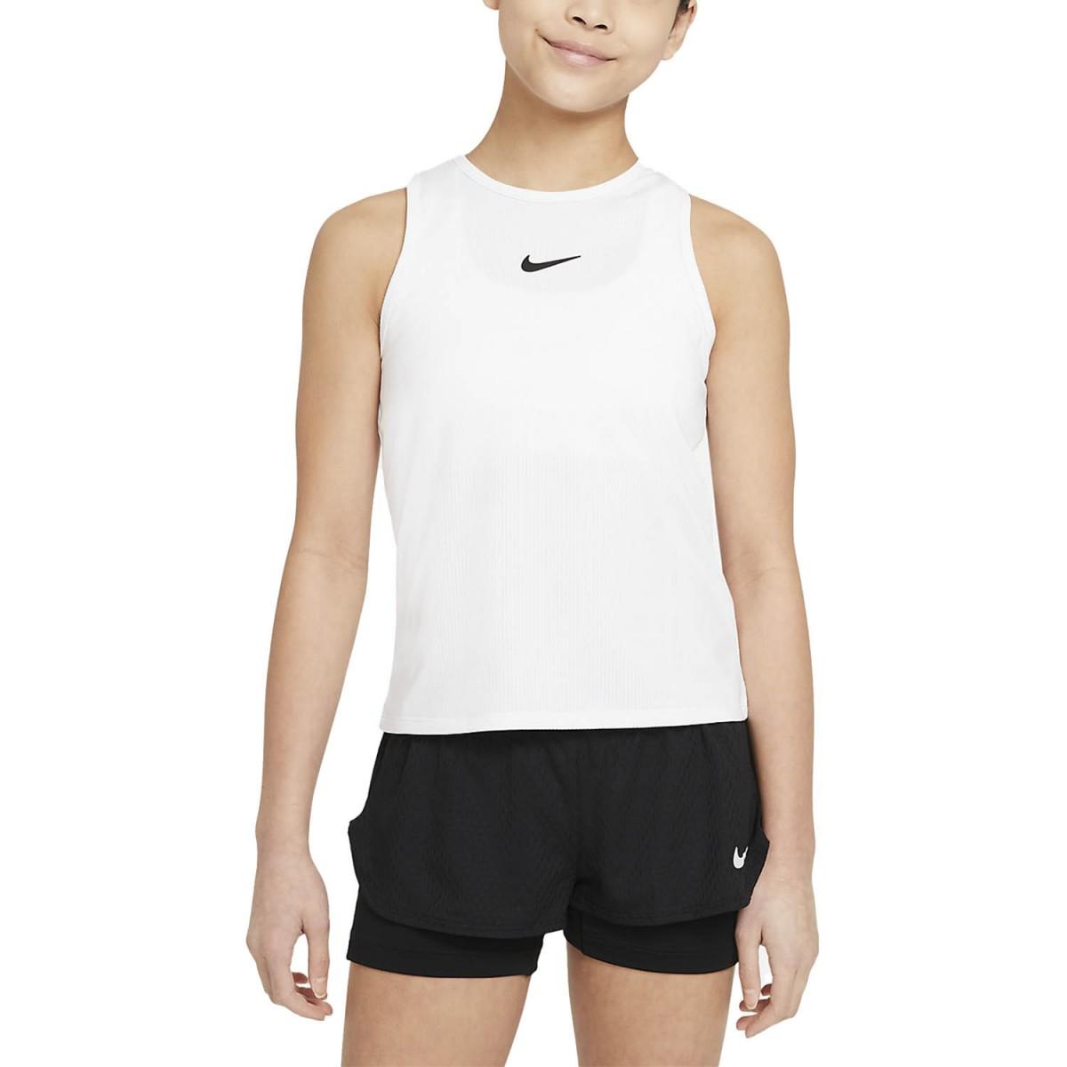 Теннисная майка для девочек Nike Court Victory Tank white/black