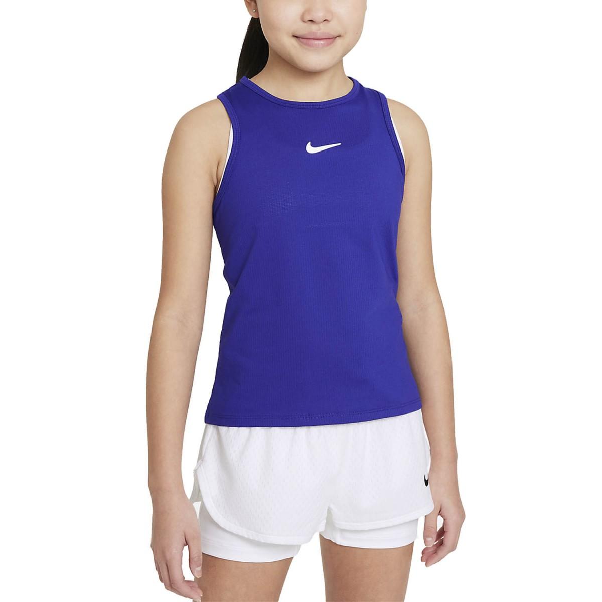 Теннисная майка для девочек Nike Court Victory Tank concord/white