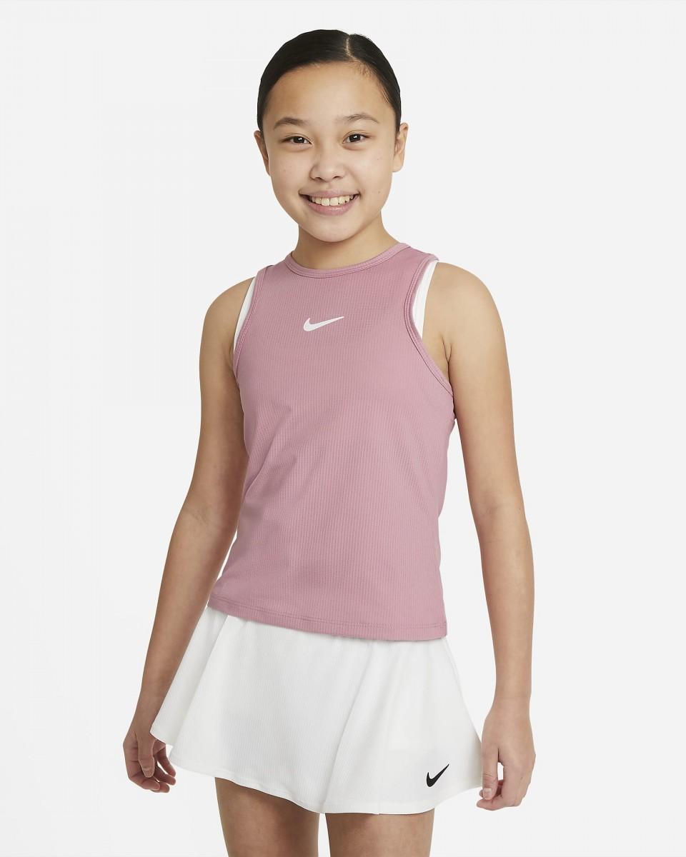 Теннисная майка для девочек Nike Court Victory Tank elemental pink/white