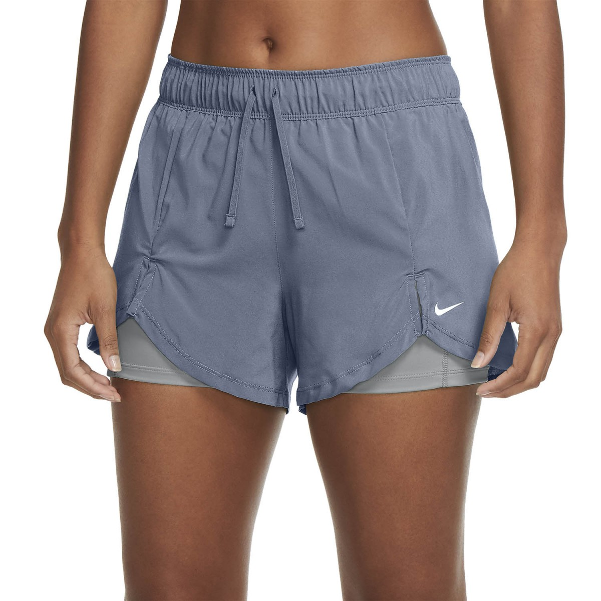 Теннисные шорты женские Nike Flex 2in1 Short ashen slate/particle grey/white