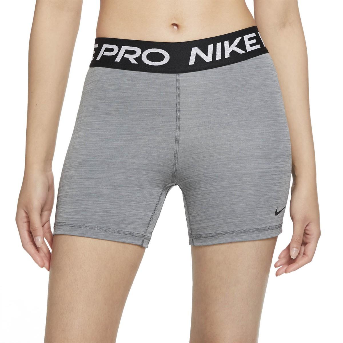 Теннисные шорты женские Nike Pro 365 Short 5in smoke grey heather/black