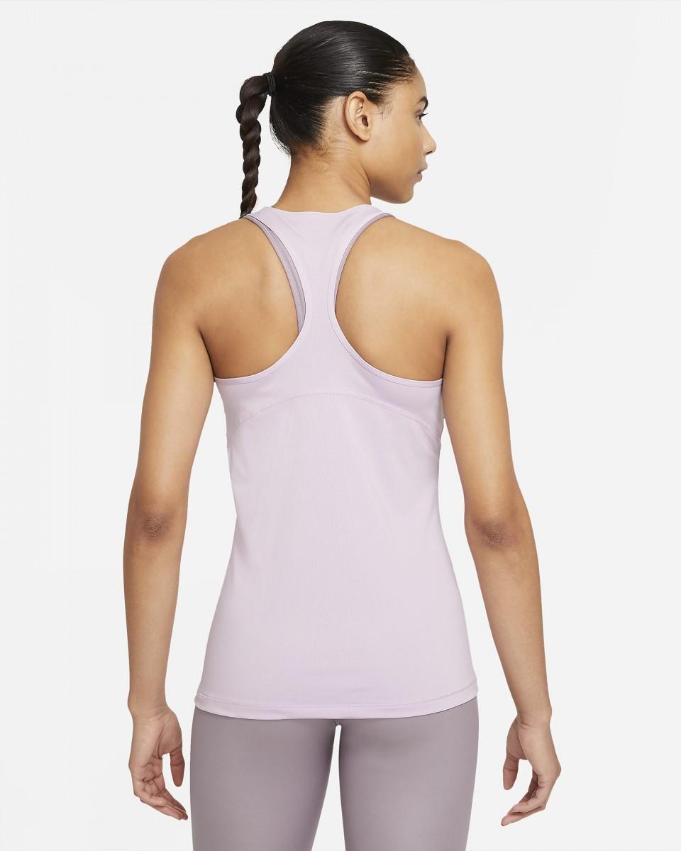Теннисная майка женская Nike Pro Tank All Over Mesh iced lilac/white