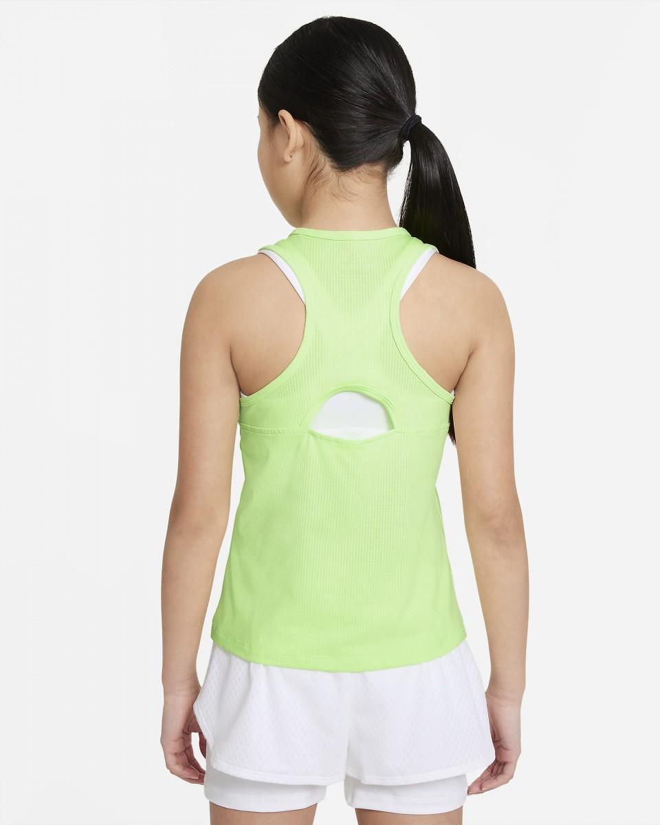 Теннисная майка для девочек Nike Court Victory Tank lime glow/white