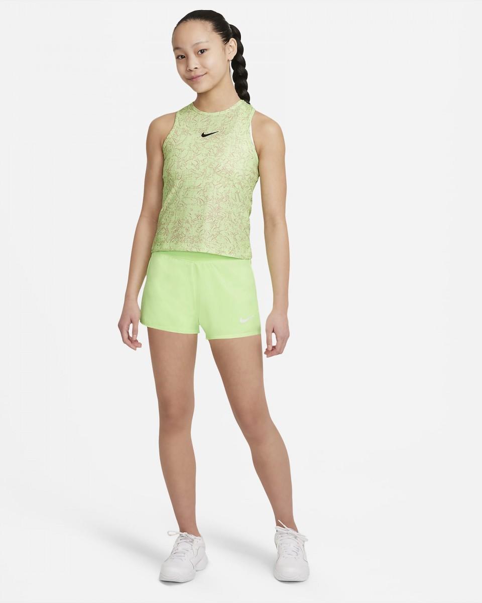 Теннисные шорты детские Nike Court Victory Short lime glow/black