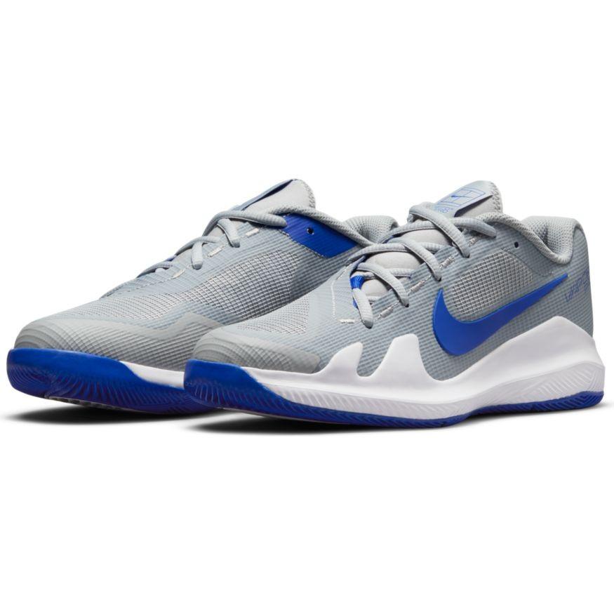 Детские теннисные кроссовки Nike Vapor Pro Jr light smoke grey/hyper royal