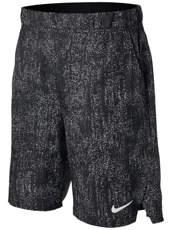 Теннисные шорты мужские Nike Court Flex Victory Short 9in Printed black/white