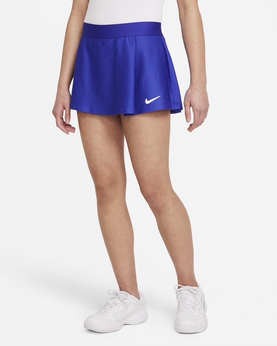 Теннисная юбка детская Nike Court Victory Flouncy Skirt concord/white