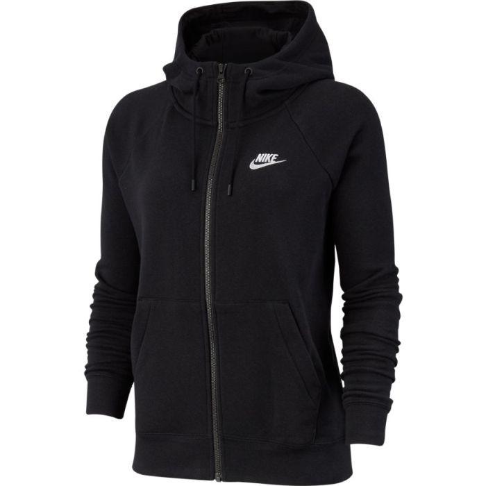 Реглан женский Nike Sportswear Essential Hoodie FZ Fleece black/white