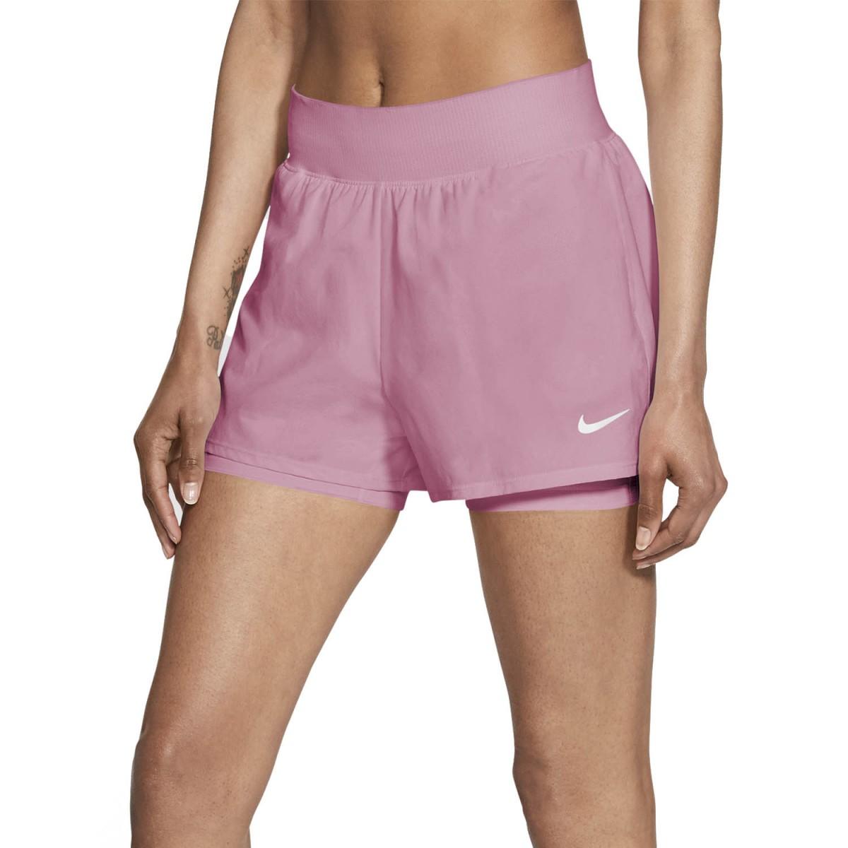 Теннисные шорты женские Nike Court Victory Short elemental pink/white