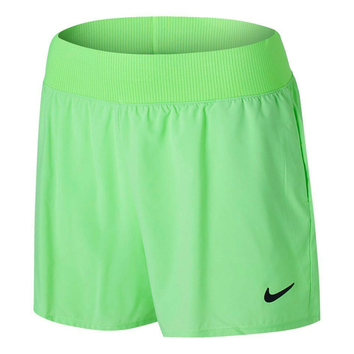 Теннисные шорты женские Nike Court Victory Short W lime glow/black