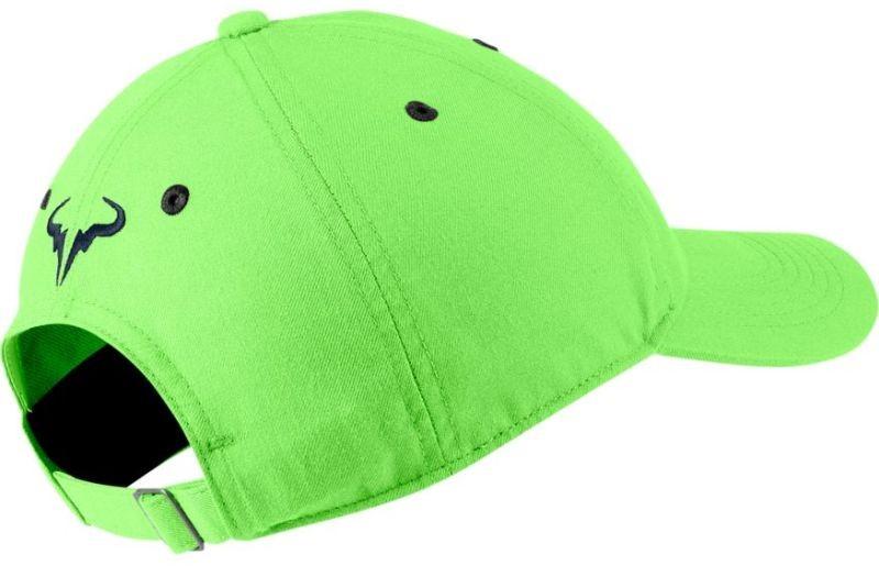 Теннисная кепка Nike Rafa U Aerobill H86 Cap lime glow/obsidian